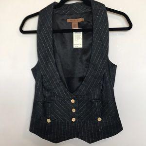 Lurex gold Striped vest in indigo